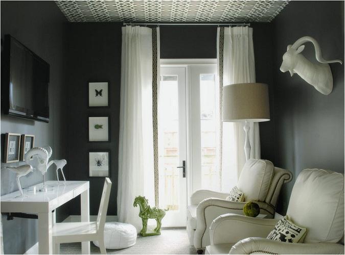rèm voan cho căn phòng tối màu