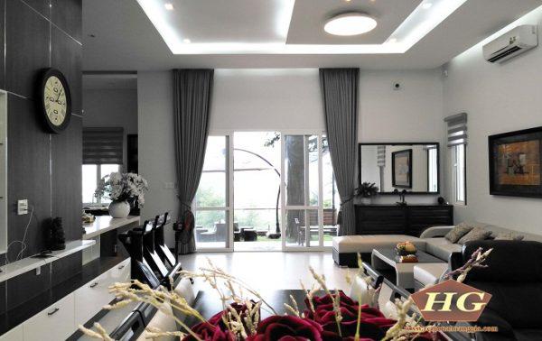 Công trình rèm cửa – ghế sofa biệt thự nhà chú Hòa