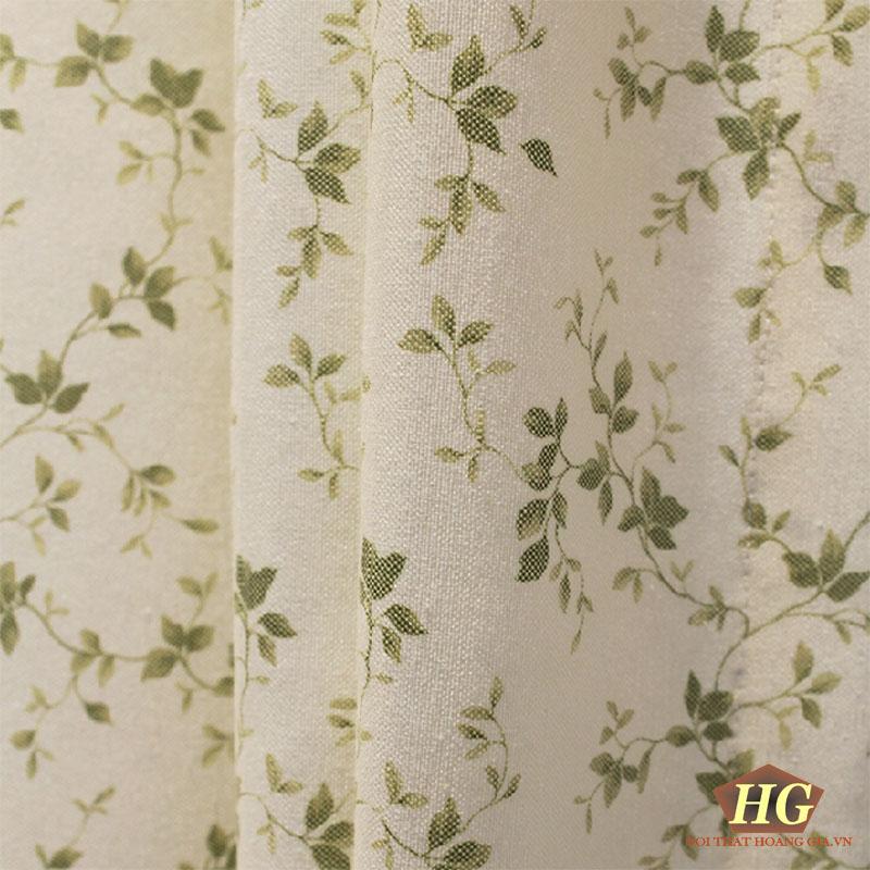 rèm cửa họa tiết cây cỏ
